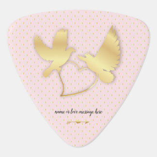 Golden Doves with a Golden Heart, Gentle Love Guitar Pick