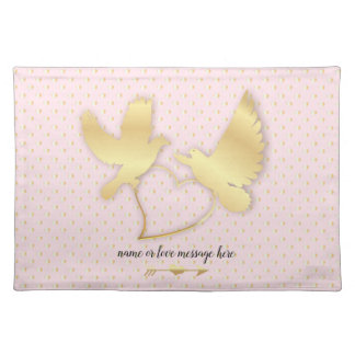 Golden Doves with a Golden Heart, Gentle Love Placemat