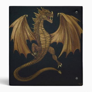 Golden Dragon 3 Ring Binder