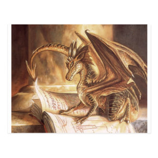 Golden Dragon Book Reading Postcard