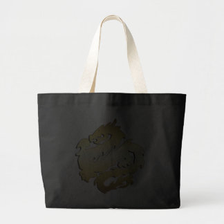 GOLDEN DRAGON CANVAS BAG
