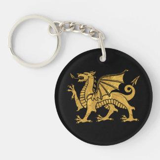 Golden Dragon Keychain
