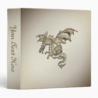 Golden Dragon Personal 3 Ring Binders