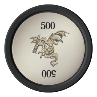 Golden Dragon Poker Chips