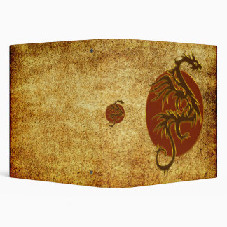 Golden Dragon Sun | antique style Binder