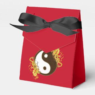 Golden Dragon Yin Yang Favor Box