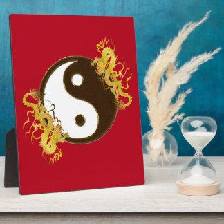 Golden Dragon Yin Yang Plaque