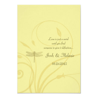 Golden Dragonflies Flourish Invitation