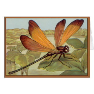Golden Dragonfly Card