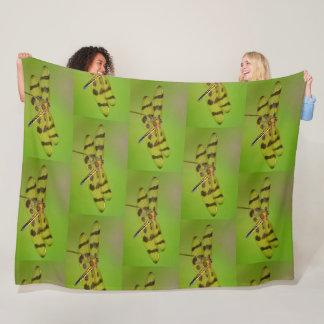 Golden Dragonfly Fleece Blanket