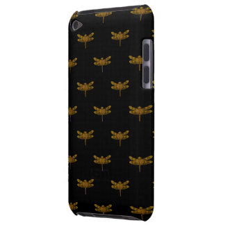 Golden Dragonfly Repeat Gold Metallic Foil Barely There iPod Cover