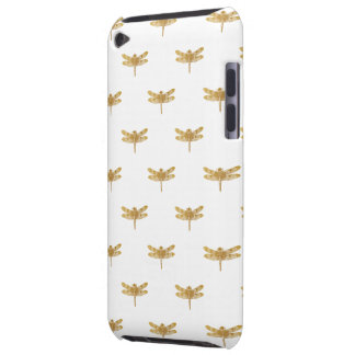 Golden Dragonfly Repeat Gold Metallic Foil iPod Touch Cases