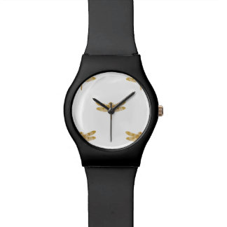 Golden Dragonfly Repeat Gold Metallic Foil Watch