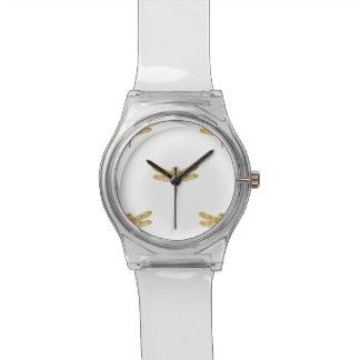 Golden Dragonfly Repeat Gold Metallic Foil Watch
