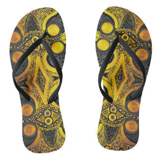 Golden Dream Flip Flops