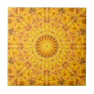 Golden Dreams Mandala Tile