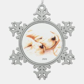 Golden Dreams Pewter Snowflake Ornament