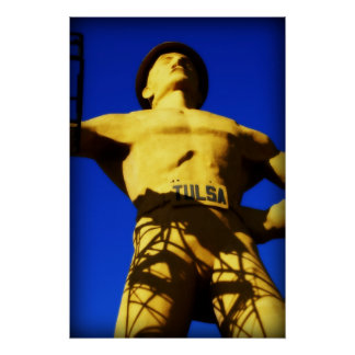 Golden Driller, Color. Photo by Derrick W. Black Poster