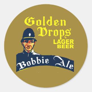 Golden Drops / Bobbie Ale Classic Round Sticker