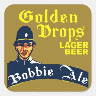 Golden Drops / Bobbie Ale Square Sticker