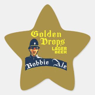 Golden Drops / Bobbie Ale Star Sticker
