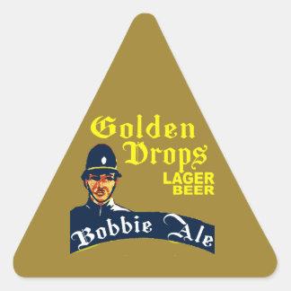 Golden Drops / Bobbie Ale Triangle Sticker