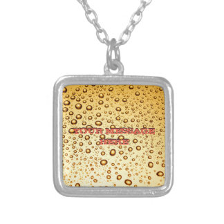 Golden drops silver plated necklace