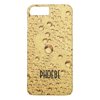 Golden Drops with Name iPhone 7 Plus Case