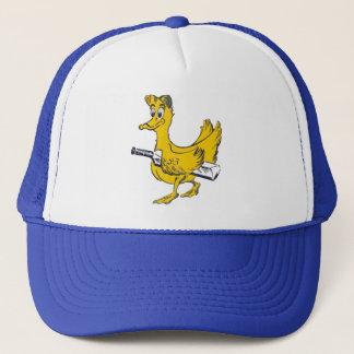 Golden duck cricket cap