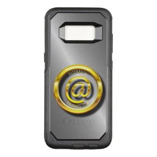 Golden E-Mail Symbol 3D With Shadows OtterBox Commuter Samsung Galaxy S8 Case