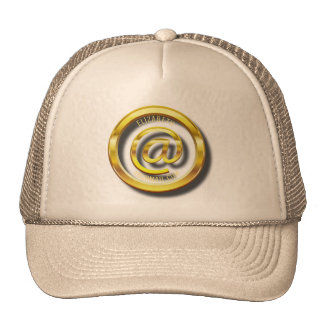 Golden E-Mail Symbol 3D With Shadows Trucker Hat
