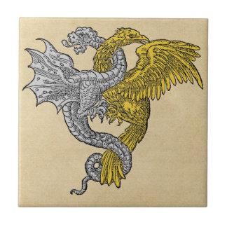 Golden Eagle and Silver Dragon Tile