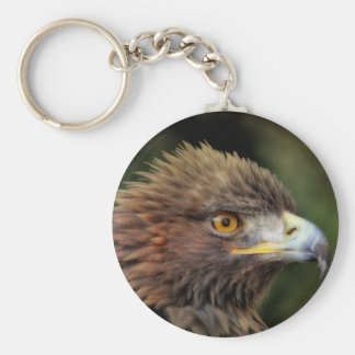 Golden eagle basic round button keychain