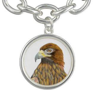 Golden Eagle Bird Watercolour Painting Artwork Bracelet