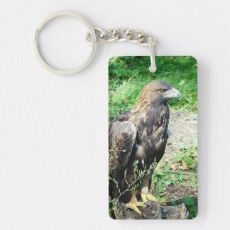 Golden Eagle Double-Sided Rectangular Acrylic Keychain