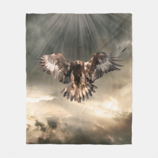 Golden Eagle Fleece Blanket