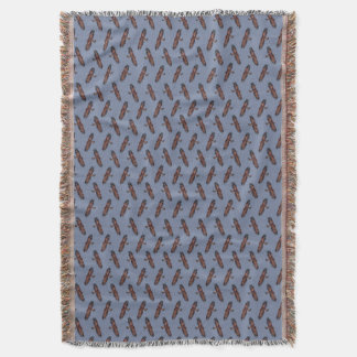 Golden Eagle Frenzy Throw Blanket (Blue)