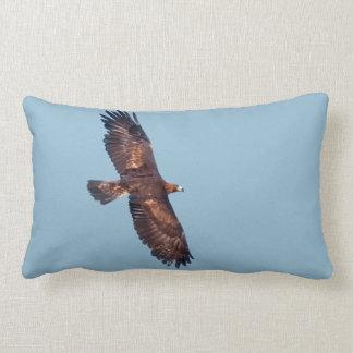 Golden Eagle in Flight Pillow