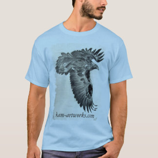 golden eagle lg,frayed, kam-artworks.com T-Shirt