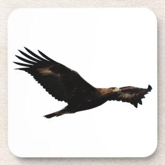 Golden Eagle Soaring Drink Coaster