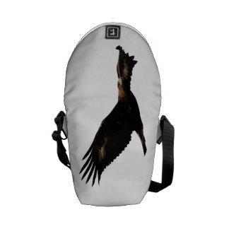 Golden Eagle Soaring Messenger Bags