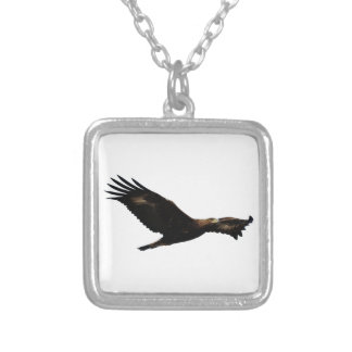 Golden Eagle Soaring Personalized Necklace