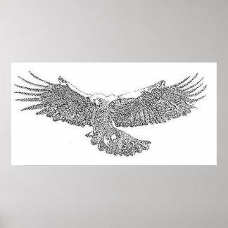 Golden Eagle Soaring Poster