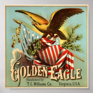 Golden Eagle Tobacco 1900 Poster