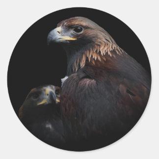 Golden Eagles Thru the Bars Round Sticker