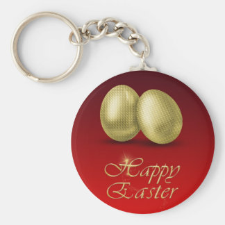 Golden Easter Eggs - Keychain