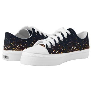 Golden Eclipse and Stars Low Tops Shoes