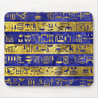 Golden Egyptian  hieroglyphs pattern Mouse Pad