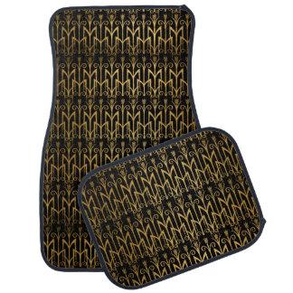 Golden Egyptian Wheat Color Barley Art Deco Car Floor Carpet