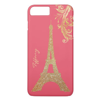 Golden Eiffel Tower Custom iPhone 7 Plus Case